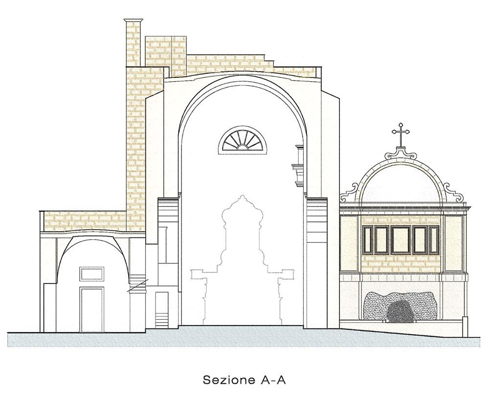 chiesa_montesardo_sezione_A-A_gianfranco_marino